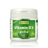 Vitamin D, 5000 iE, Depot, vegan 180 Tabletten
