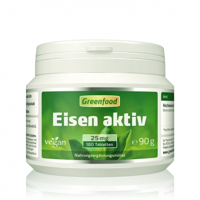 Eisen aktiv, 20mg 180 Tabletten