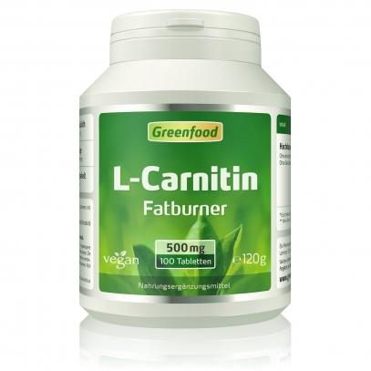 L-Carnitin, 500 mg 100 Tabletten