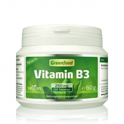 Vitamin B3, 250 mg 120 Tabletten