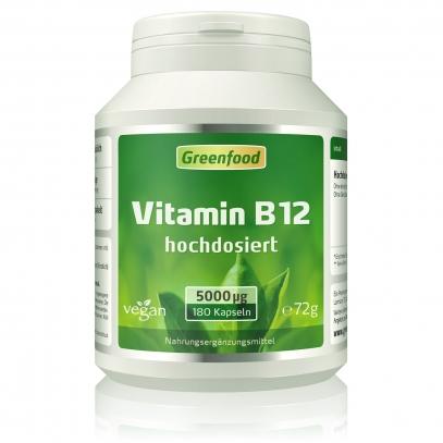 Vitamin B12, 5000 µg 180 Kapseln