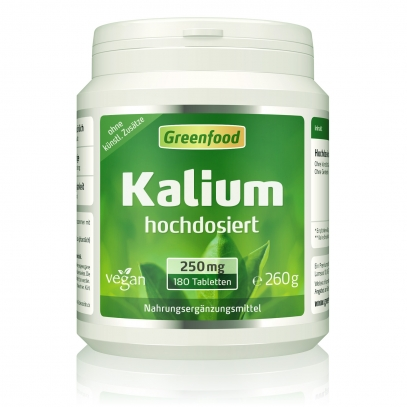 Kalium, 250mg 180 Tabletten