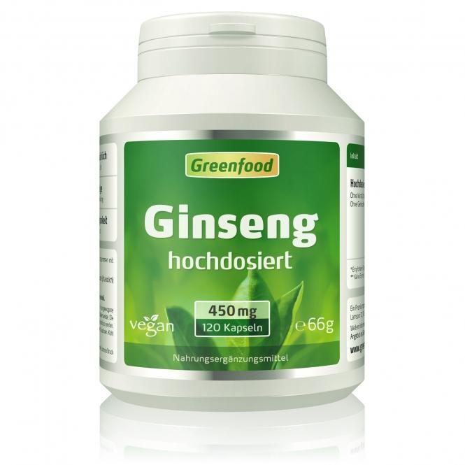 Ginseng, 450 mg 120 Kapseln