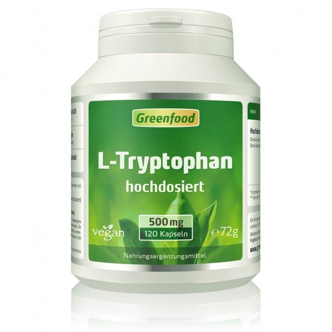 L-Tryptophan, 500 mg 120 Kapseln