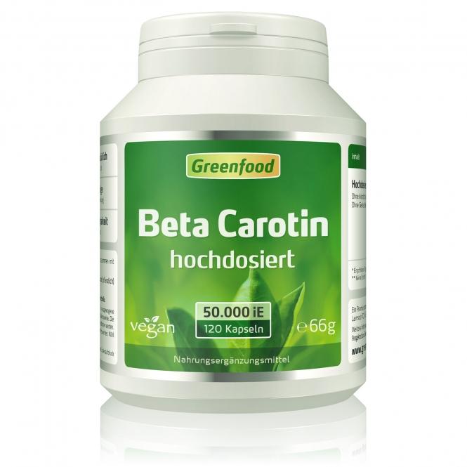 Beta Carotin, 50000 iE 120 Kapseln