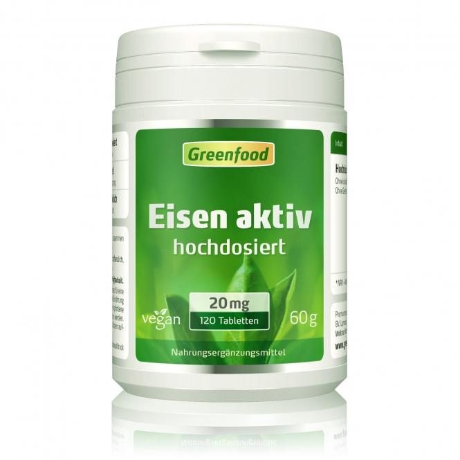 Eisen aktiv, 20 mg 120 Tabletten