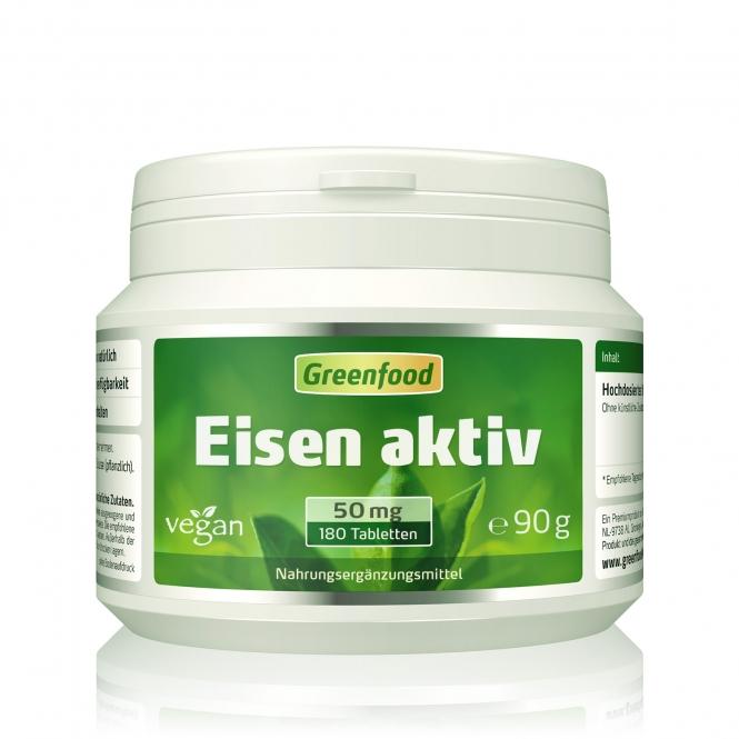 Eisen aktiv, 50mg 180 Tabletten