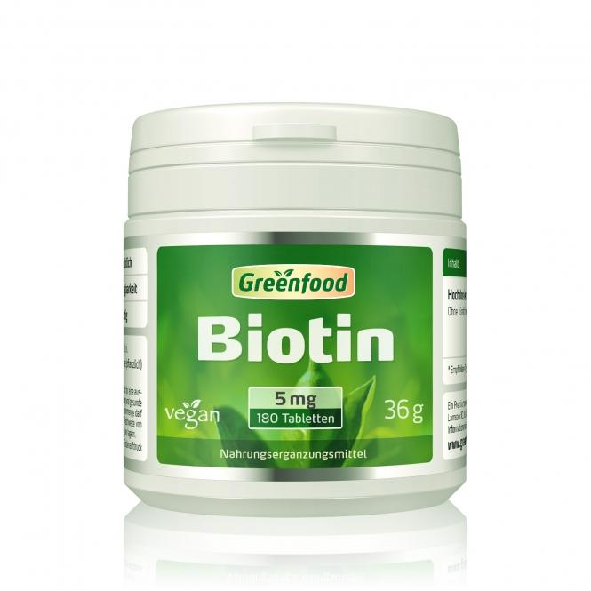 Biotin, 5 mg 180 Tabletten