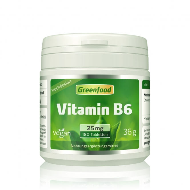 Vitamin B6, 25 mg 180 Tabletten