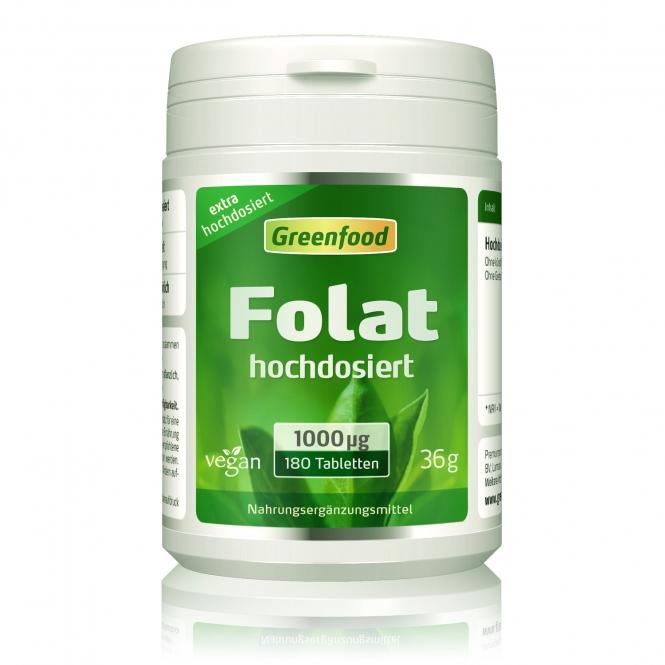 Folat, 1000µg 180 Tabletten