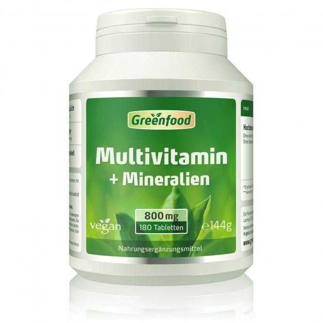 Multivitamin + Mineralien 180 Tabletten