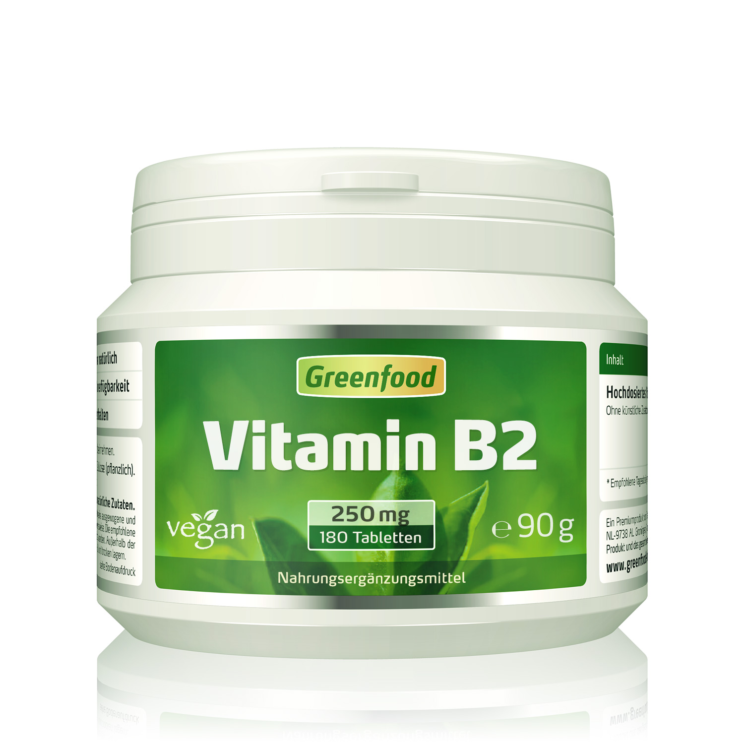 greenfood vitamin b2 250mg. Black Bedroom Furniture Sets. Home Design Ideas